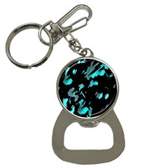 Painter was here - cyan Bottle Opener Key Chains