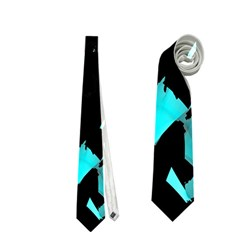 Painter was here - cyan Neckties (Two Side)