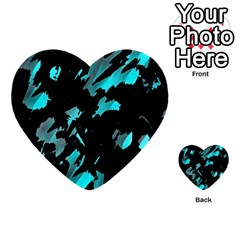 Painter was here - cyan Multi-purpose Cards (Heart)