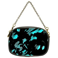 Painter was here - cyan Chain Purses (One Side)