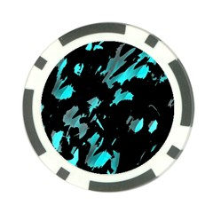 Painter was here - cyan Poker Chip Card Guards (10 pack)