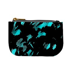Painter was here - cyan Mini Coin Purses