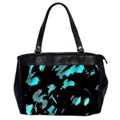 Painter was here - cyan Office Handbags (2 Sides)