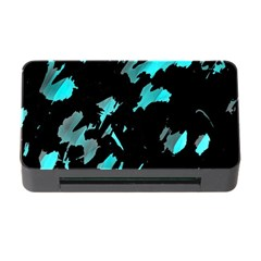 Painter was here - cyan Memory Card Reader with CF