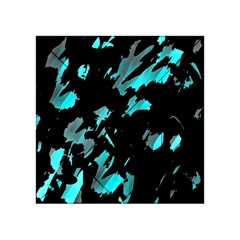 Painter was here - cyan Acrylic Tangram Puzzle (4  x 4 )