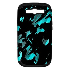 Painter was here - cyan Samsung Galaxy S III Hardshell Case (PC+Silicone)