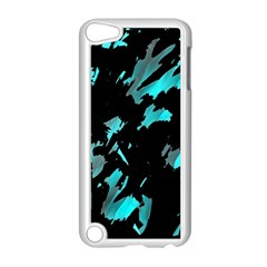 Painter was here - cyan Apple iPod Touch 5 Case (White)