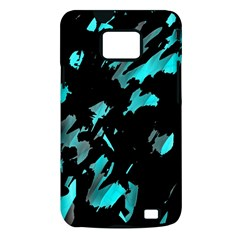 Painter was here - cyan Samsung Galaxy S II i9100 Hardshell Case (PC+Silicone)