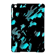 Painter was here - cyan Apple iPad Mini Hardshell Case (Compatible with Smart Cover)