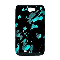 Painter was here - cyan Samsung Galaxy Note 2 Hardshell Case (PC+Silicone)