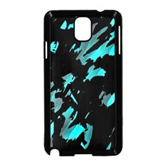 Painter was here - cyan Samsung Galaxy Note 3 Neo Hardshell Case (Black)