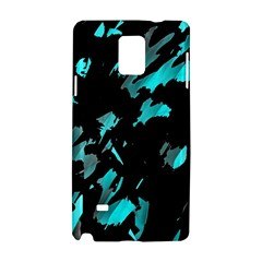 Painter was here - cyan Samsung Galaxy Note 4 Hardshell Case