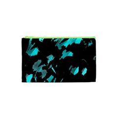 Painter was here - cyan Cosmetic Bag (XS)