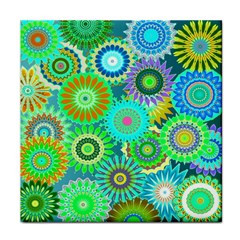 Funky Flowers A Tile Coasters