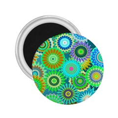 Funky Flowers A 2.25  Magnets
