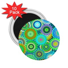Funky Flowers A 2.25  Magnets (10 pack)