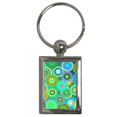 Funky Flowers A Key Chains (Rectangle)