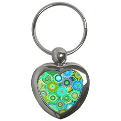Funky Flowers A Key Chains (Heart)