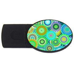 Funky Flowers A USB Flash Drive Oval (2 GB)