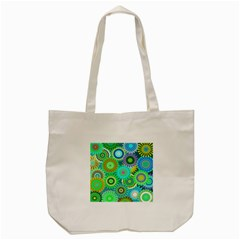 Funky Flowers A Tote Bag (Cream)
