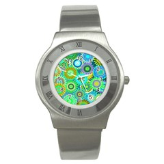 Funky Flowers A Stainless Steel Watch