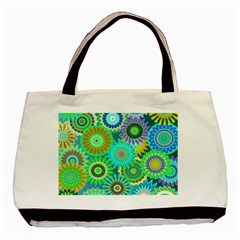 Funky Flowers A Basic Tote Bag (Two Sides)