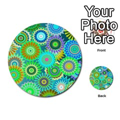 Funky Flowers A Multi-purpose Cards (Round)