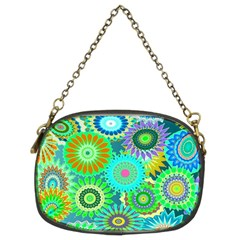 Funky Flowers A Chain Purses (Two Sides)