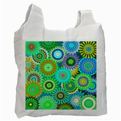 Funky Flowers A Recycle Bag (One Side)