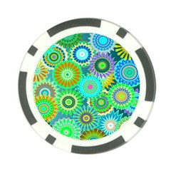 Funky Flowers A Poker Chip Card Guards (10 pack)