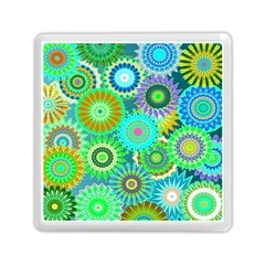 Funky Flowers A Memory Card Reader (Square)