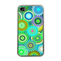 Funky Flowers A Apple iPhone 4 Case (Clear)