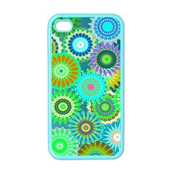 Funky Flowers A Apple iPhone 4 Case (Color)