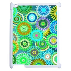 Funky Flowers A Apple iPad 2 Case (White)