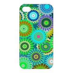 Funky Flowers A Apple iPhone 4/4S Hardshell Case