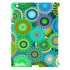 Funky Flowers A Apple iPad 3/4 Hardshell Case (Compatible with Smart Cover)