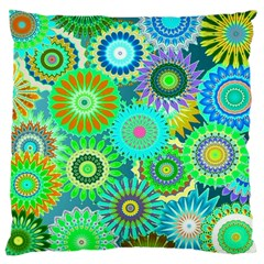 Funky Flowers A Large Cushion Case (One Side)