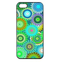 Funky Flowers A Apple iPhone 5 Seamless Case (Black)