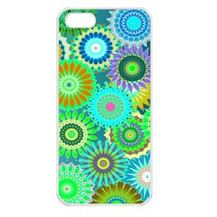 Funky Flowers A Apple iPhone 5 Seamless Case (White)