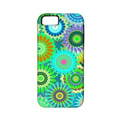 Funky Flowers A Apple iPhone 5 Classic Hardshell Case (PC+Silicone)