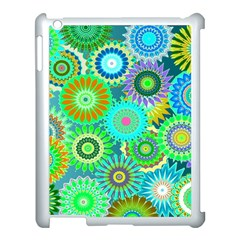 Funky Flowers A Apple iPad 3/4 Case (White)