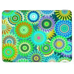 Funky Flowers A Samsung Galaxy Tab 7  P1000 Flip Case