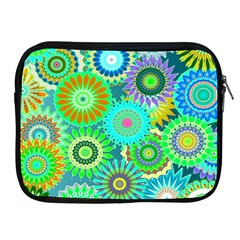 Funky Flowers A Apple iPad 2/3/4 Zipper Cases