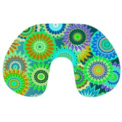 Funky Flowers A Travel Neck Pillows