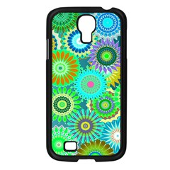 Funky Flowers A Samsung Galaxy S4 I9500/ I9505 Case (Black)
