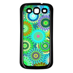 Funky Flowers A Samsung Galaxy S3 Back Case (Black)