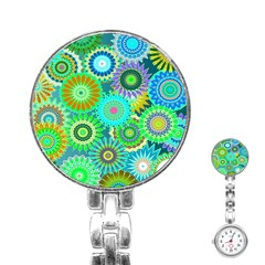 Funky Flowers A Stainless Steel Nurses Watch