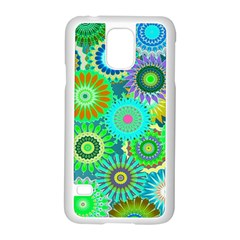 Funky Flowers A Samsung Galaxy S5 Case (White)