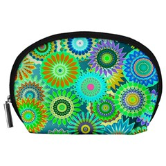 Funky Flowers A Accessory Pouches (Large)