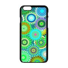 Funky Flowers A Apple iPhone 6/6S Black Enamel Case